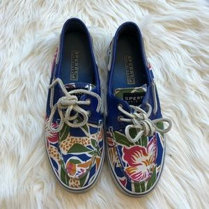 Sperry top sider shoes womans flower blue size 6.5